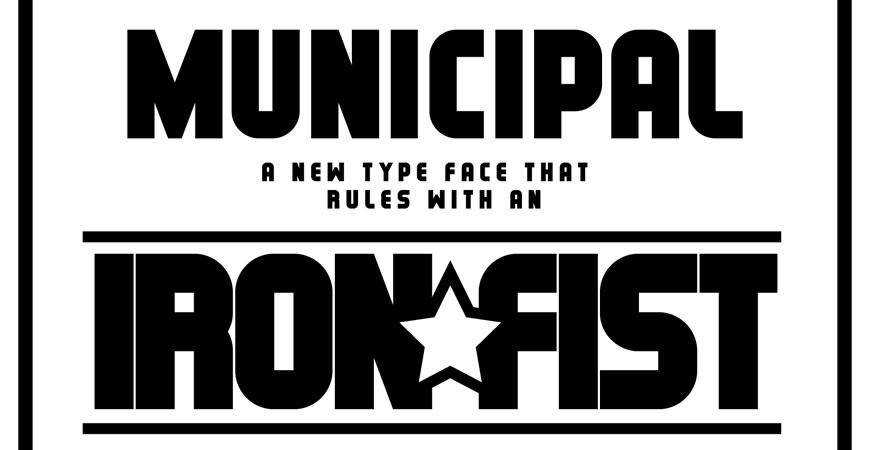 Municipal Typeface free title headline typography font typeface