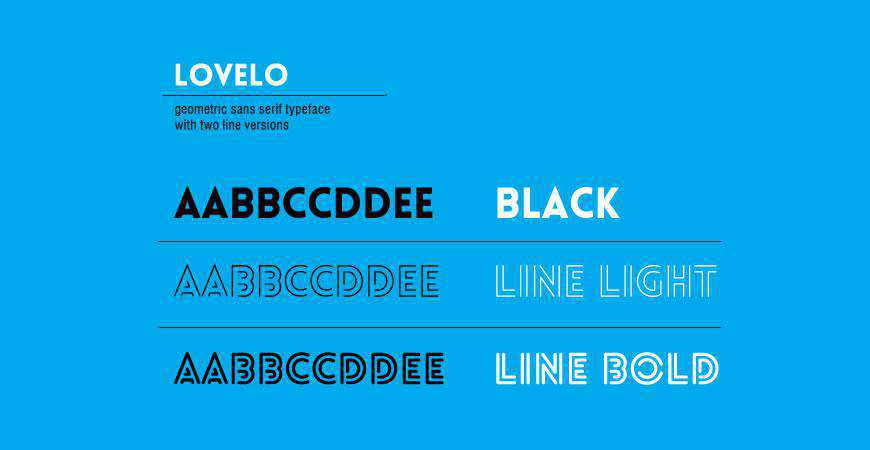 Lovelo free title headline typography font typeface