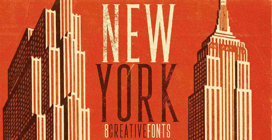 New York free title headline typography font typeface
