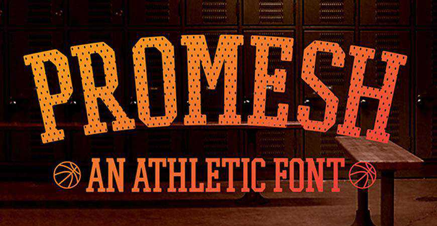 Promesh Athletic free title headline typography font typeface