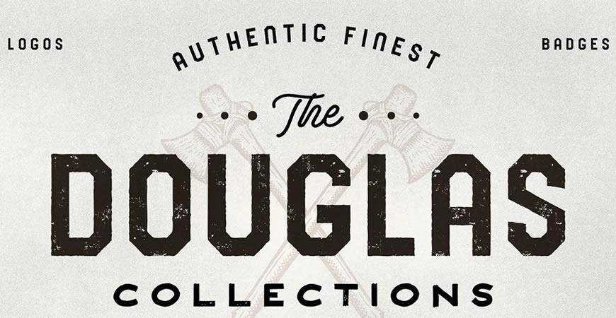 The Douglas Collections free title headline typography font typeface