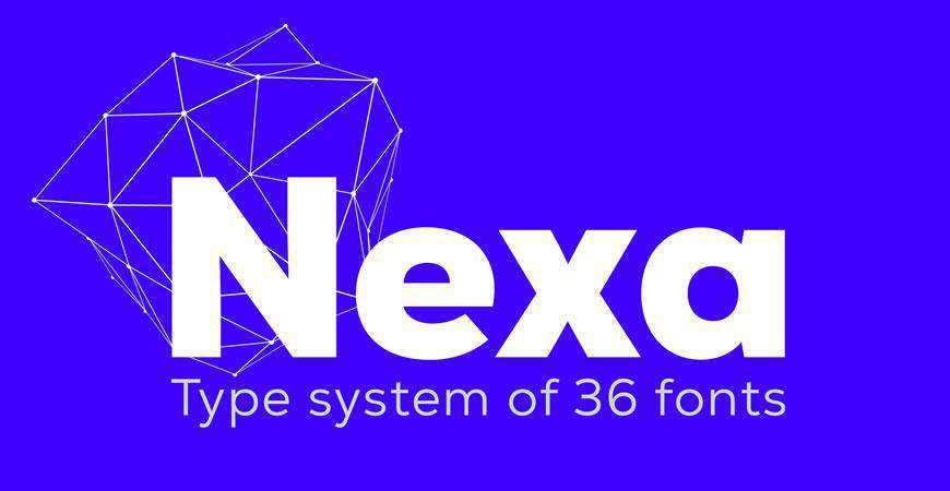 Nexa free title headline typography font typeface