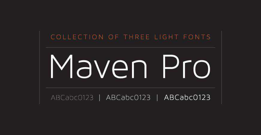 Maven Pro free title headline typography font typeface