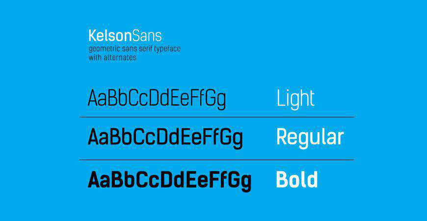 Kelson Sans free title headline typography font typeface