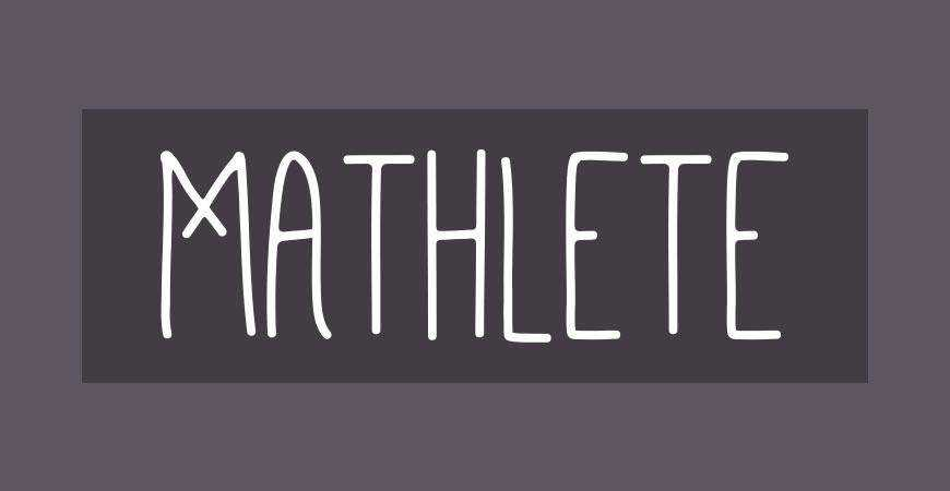 Mathlete free title headline typography font typeface