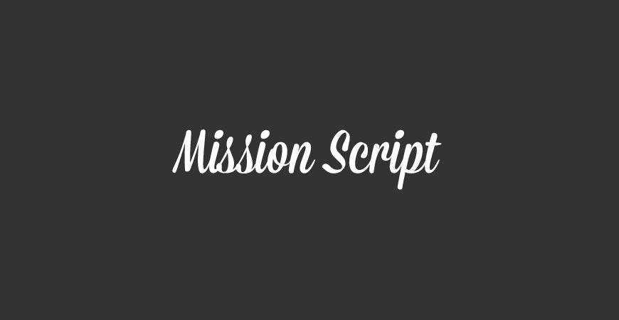 Mission Script free title headline typography font typeface