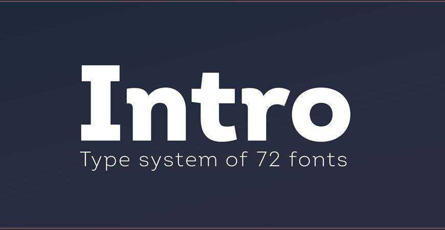 Intro free title headline typography font typeface