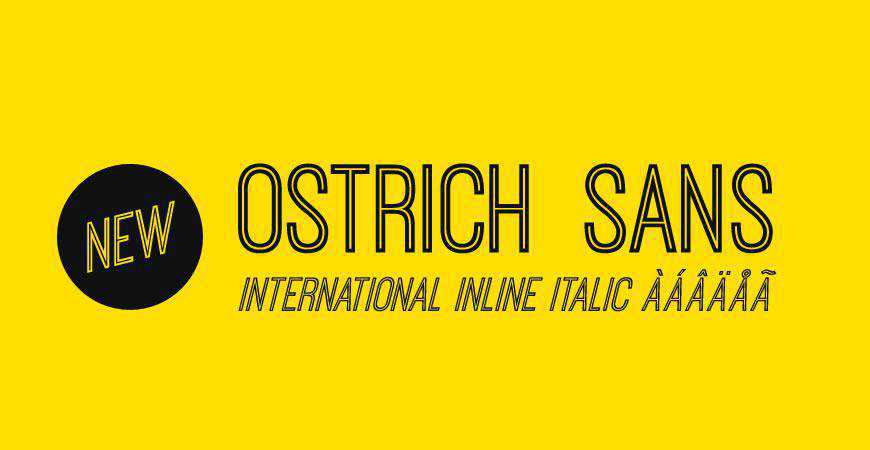 Ostrich free title headline typography font typeface