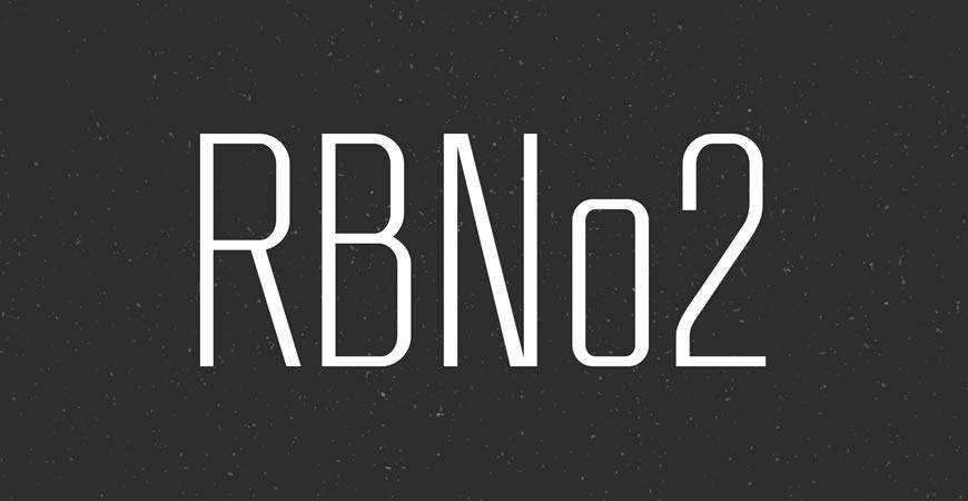 RBNo2 free title headline typography font typeface