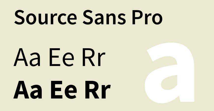 Source Sans Pro free title headline typography font typeface