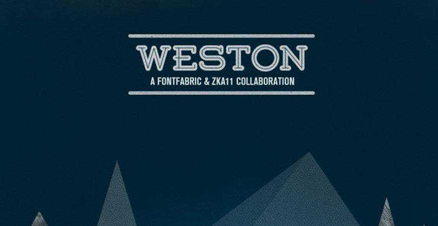 Weston free title headline typography font typeface
