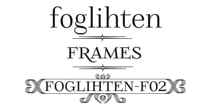 Foglihten F02 free title headline typography font typeface