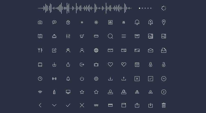 Trendy Thin Line Icon Font @fontface webfont