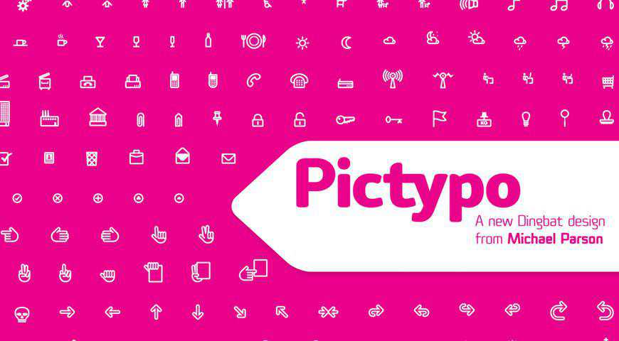 Pictypo Icon Font by Typogama @fontface webfont