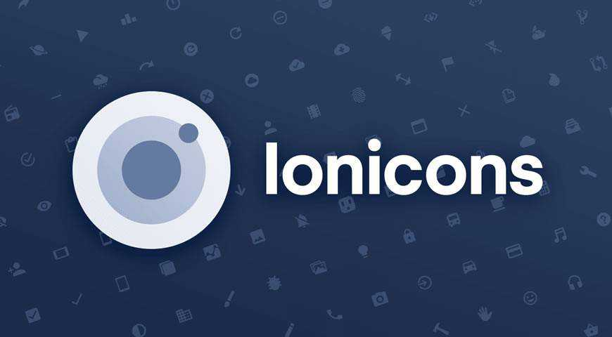 Ionicons Icon Pack for Ionic Framework @fontface webfont free