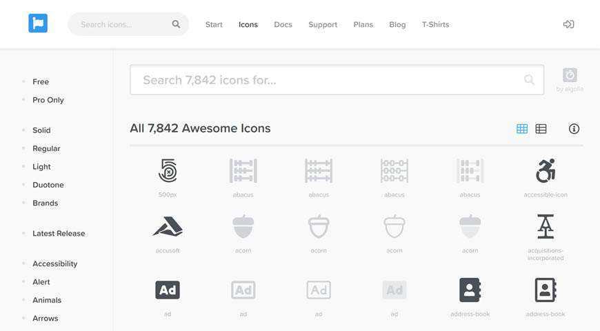 Font Awesome Icon Set @fontface webfont free