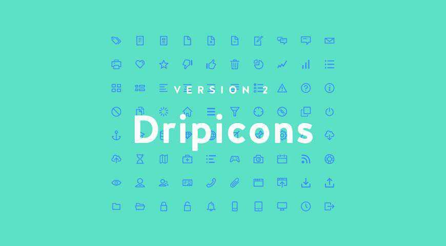 Dripicons Line Icon Font v.2 @fontface webfont free