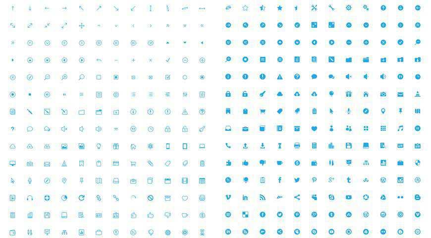 The Elegant Icon Font @fontface webfont free
