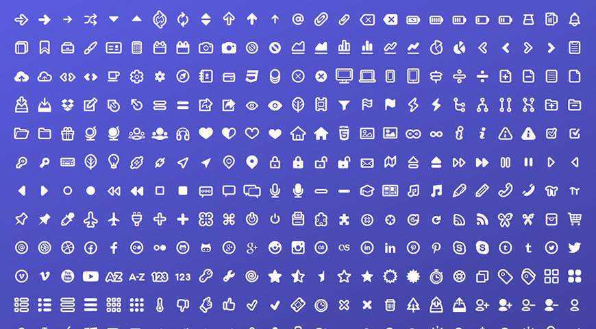 Typicons Icon Font @fontface webfont free