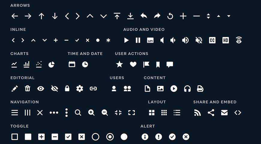 Microns Icon Font @fontface webfont free