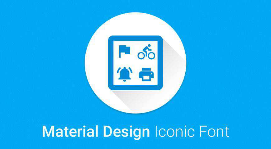 Material Design Iconic Font @fontface webfont free