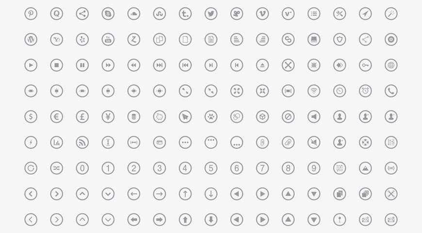 Metrize Metro-Style Icons @fontface webfont free