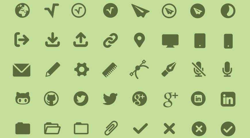 MFG Labs Icon Set @fontface webfont free