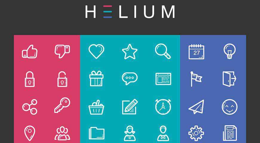 Helium Icon Set Font @fontface webfont free