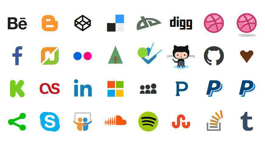 Stackicons Social Icon Font @fontface webfont free