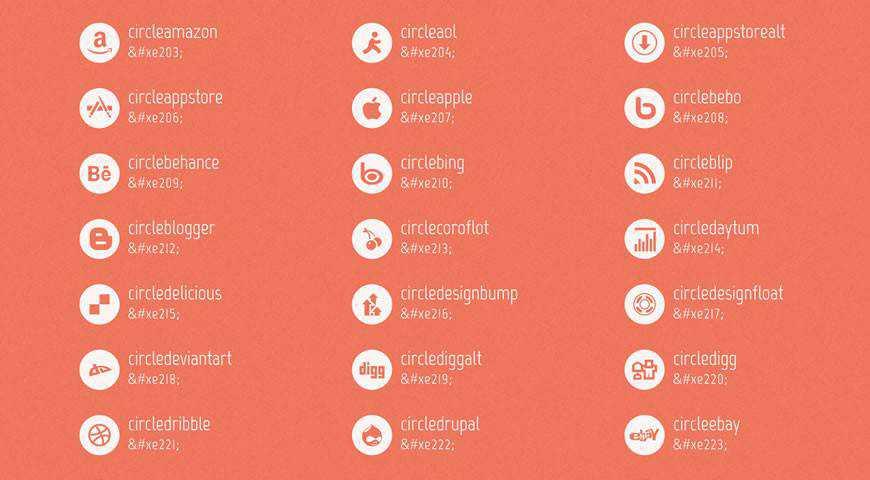 Mono Social Icons Font @fontface webfont free
