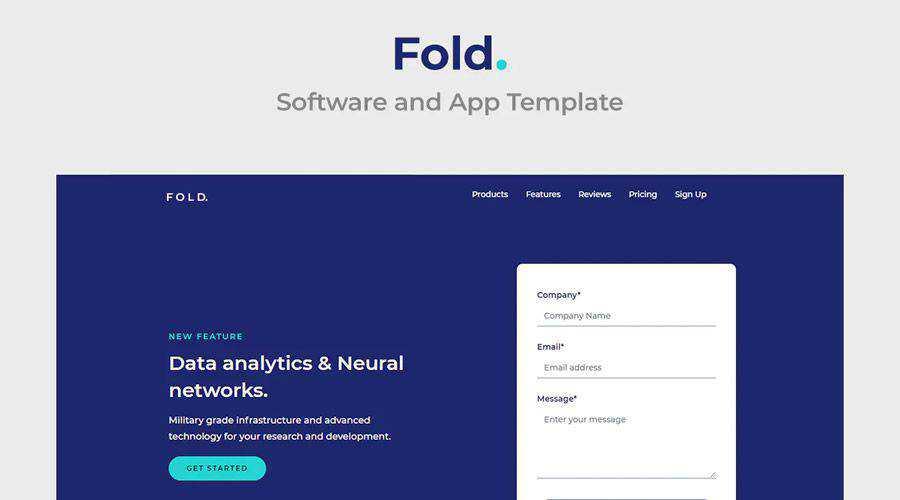 Fold Multipurpose Software App Template