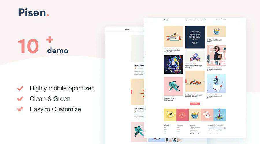 Pisend Minimalism Blog HTML5 Template