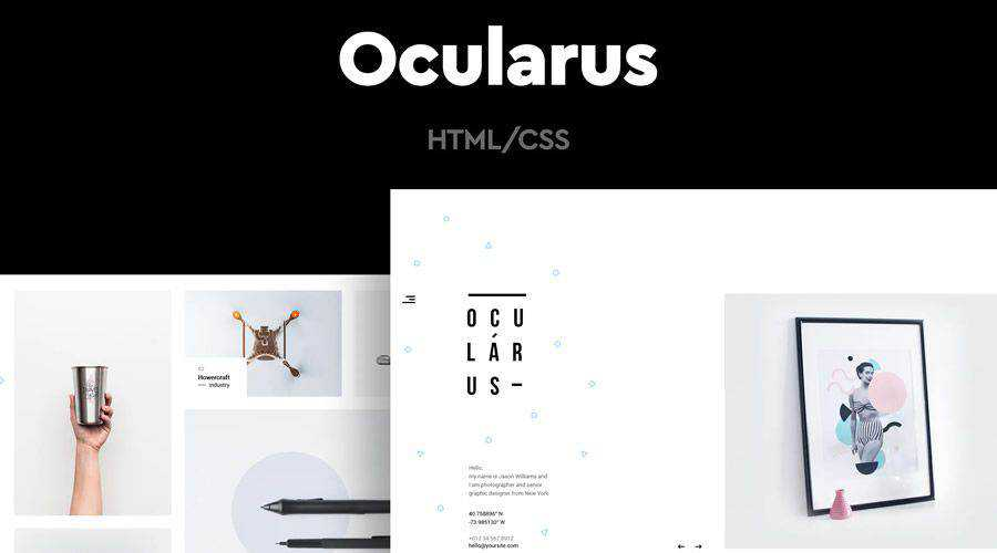 Ocularus Minimal Photography HTML Template