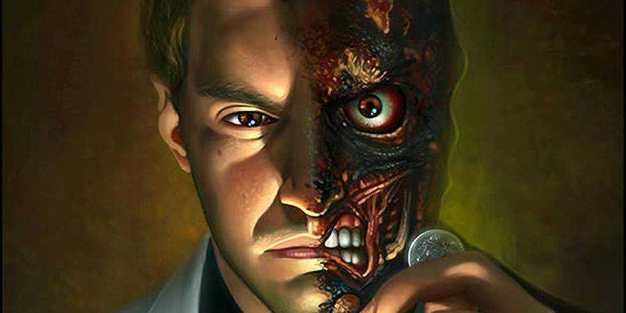 Two-Faced Digital Painting Photoshop Tutorial