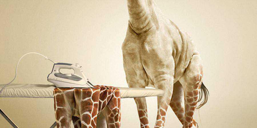 Undress a Giraffe tutorial graphic designers Photoshop