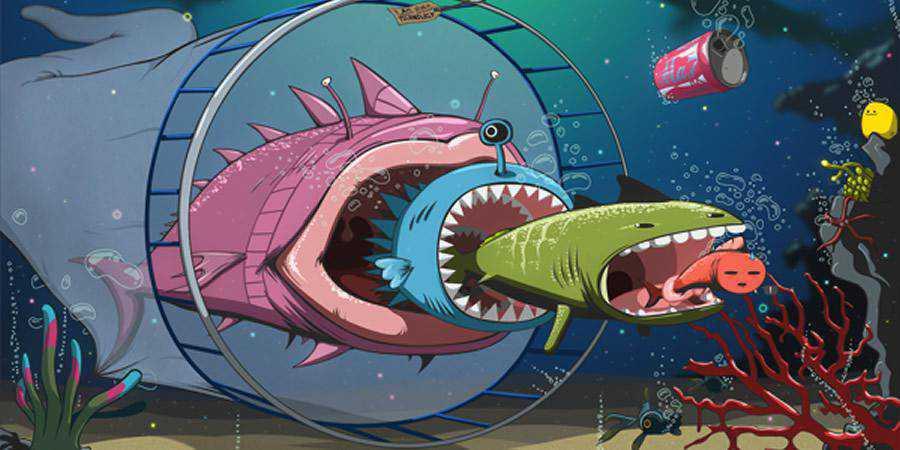 Underwater Vector Illustration tutorial graphic designers Photoshop