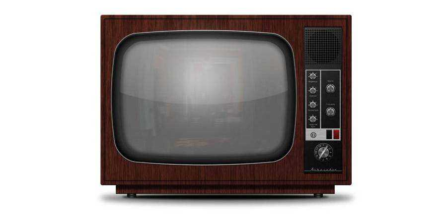 Detailed Vintage TV from Scratch tutorial graphic designers Photoshop