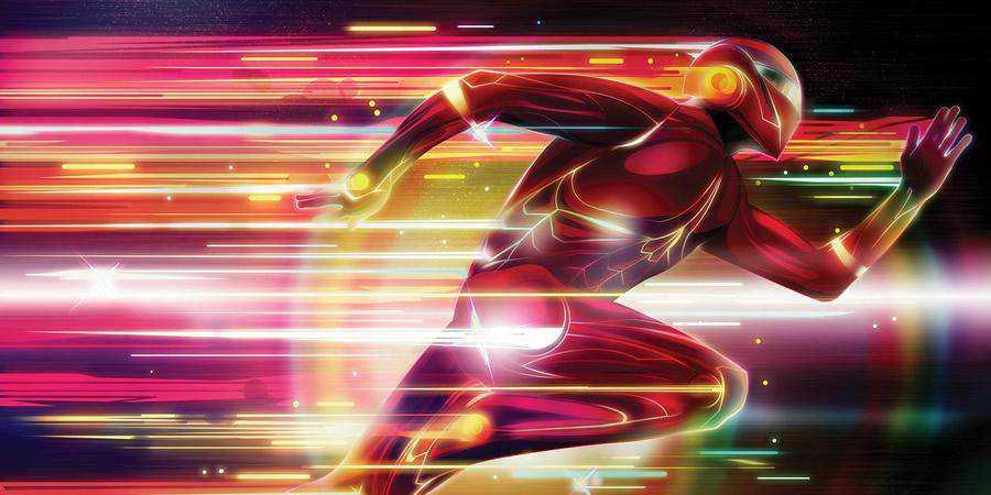 Glowing Superhero Photoshop tutorial graphic designers