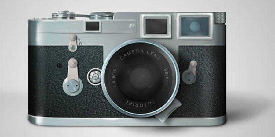 Draw Leica Camera Photoshop Tutorial
