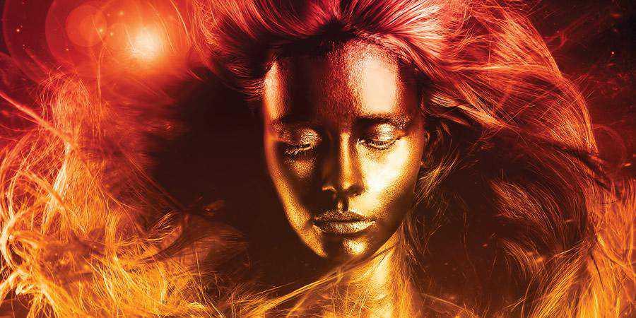 Portrait Cosmic Makeover tutorial graphic designers Photoshop