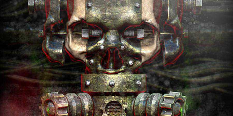 Rusty Metallic Textured Skull Using 3D Renders Photoshop Tutorial