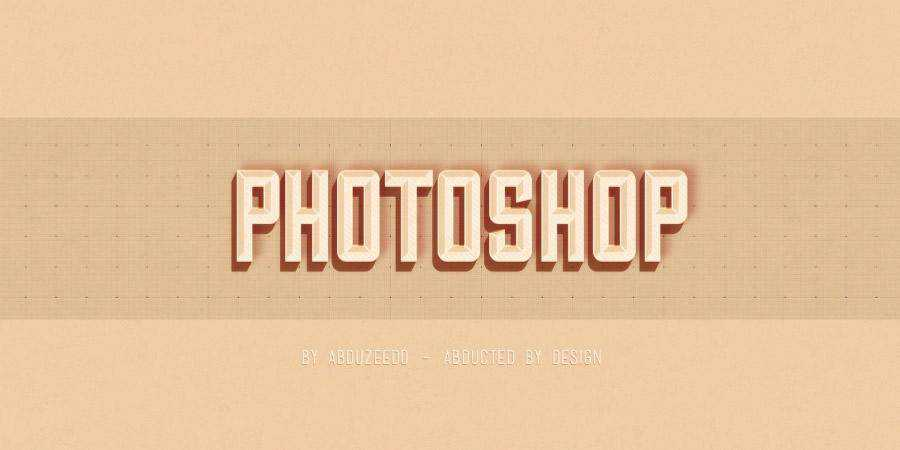 Hipster Text Effect Photoshop Tutorial