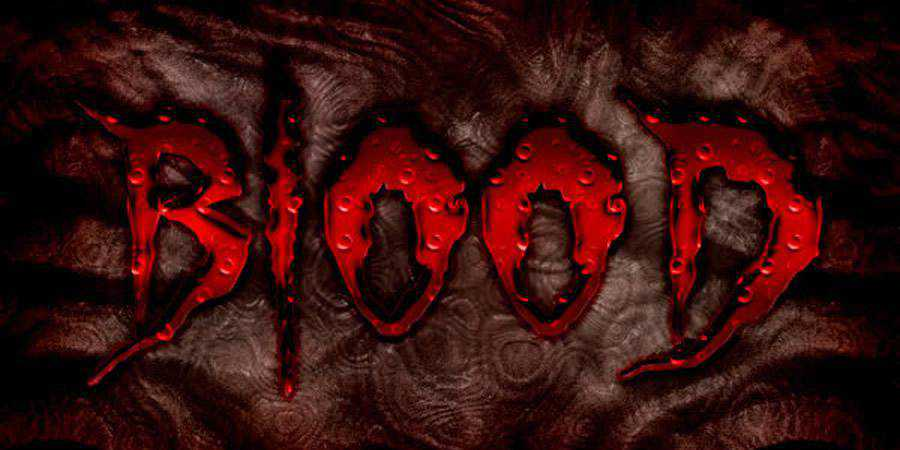 Bloody Text Effect Photoshop Tutorial