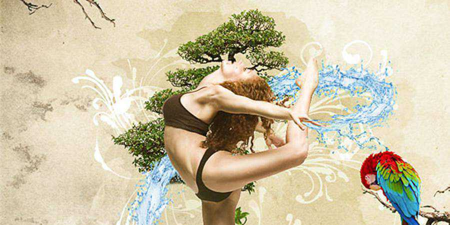 Dynamic Nature Poster tutorial graphic designers Photoshop