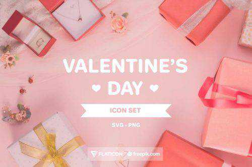 Free Valentine's Day Icon Set (50 Icons, SVG & PNG)