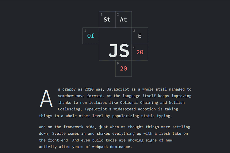 Example from State of JS 2020