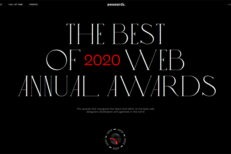 Example from The Best of 2020 Web Annual Awards