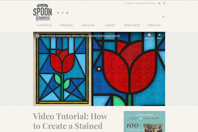 Example from Video Tutorial: How to Create a Stained Glass Window Effect