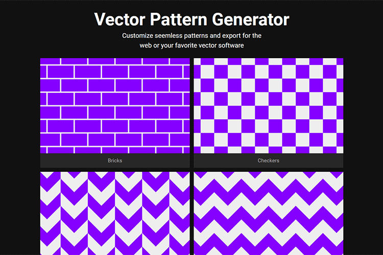 Example from VISIWIG Vector Pattern Generator