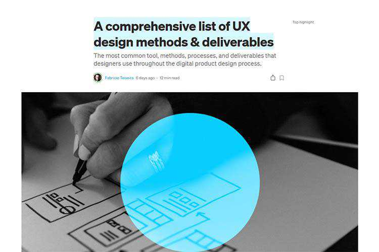 Example from A comprehensive list of UX design methods & deliverables